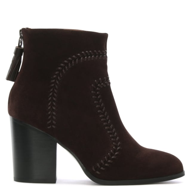 Quixote Brow Suede Whipstitch Ankle Boots