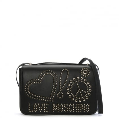 Rachel Black Studded Shoulder Bag
