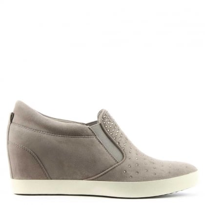 Kennel & Schmenger Ragdoll Sparkle Ghost Suede Wedge Trainer