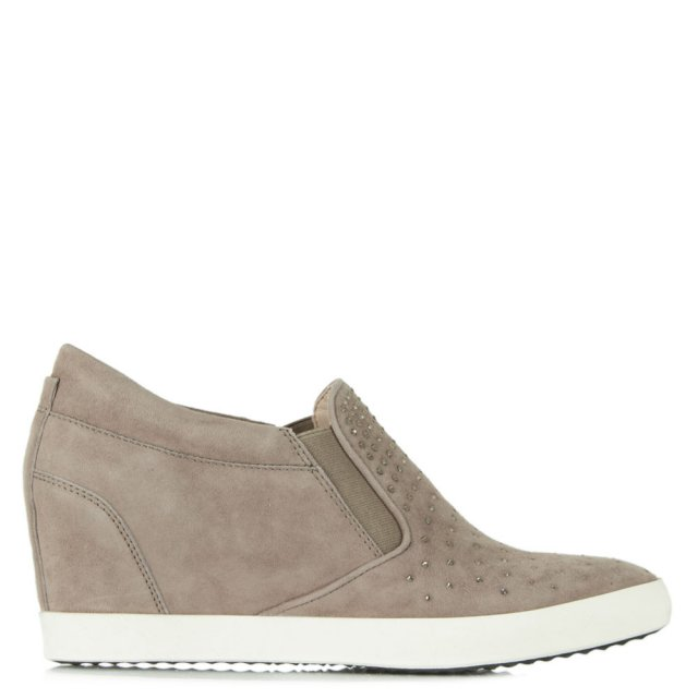 Ragdoll Sparkle Mink Suede Wedge Trainer