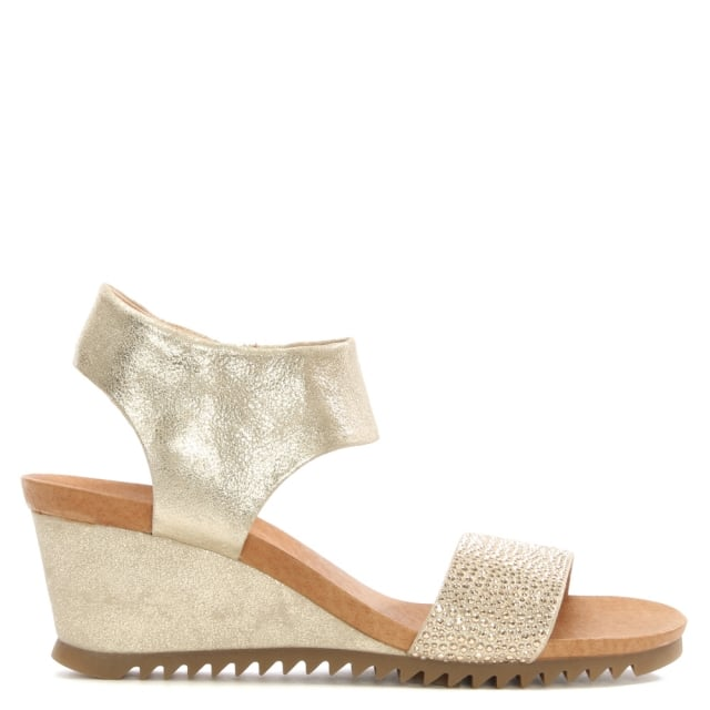 Ralles Taupe Suede Jewelled Front Sandals