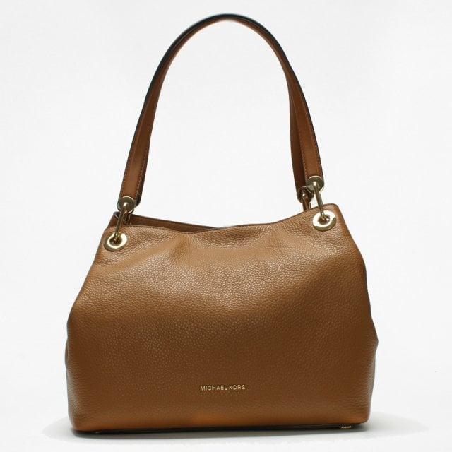 6b14b00d7f87 Michael Kors Raven Large Acorn Leather Shoulder Bag