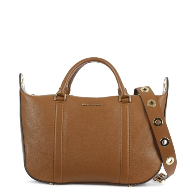 Raven Large Luggage Tan Leather Satchel Bag