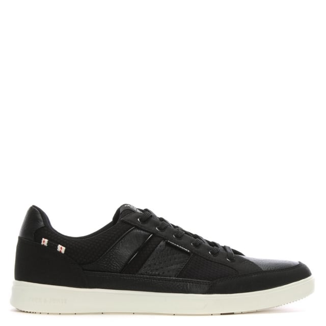 Rayne Black Leather Lace Up Trainers