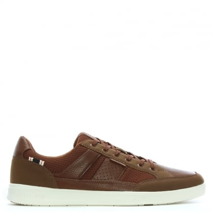 Rayne Tan Leather Lace Up Trainers