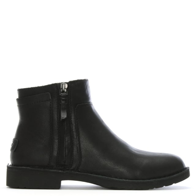 671a391a1f4 Rea Black Leather Ankle Boots