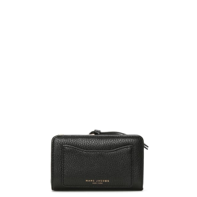 Recruit Black Leather Compact Wallet