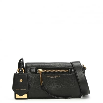 Recruit Black Leather Cross-Body Bag