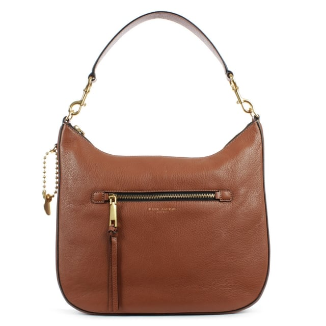 Recruit Cognac Leather Hobo Bag