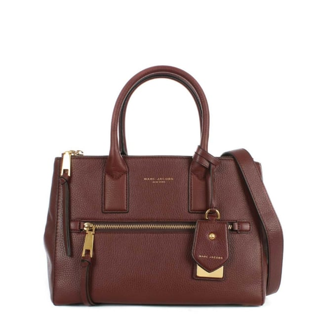 Recruit East West Chianti Leather Tote Bag