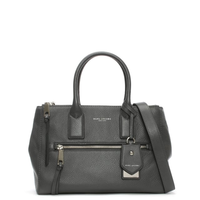 Recruit East West Shadow Leather Tote Bag