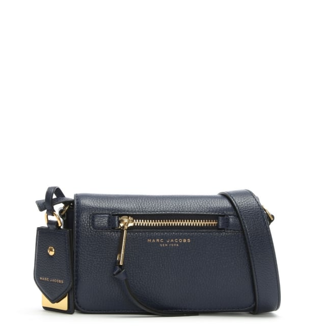 a0d3759231a5 Marc Jacobs Recruit Midnight Blue Leather Cross-Body Bag