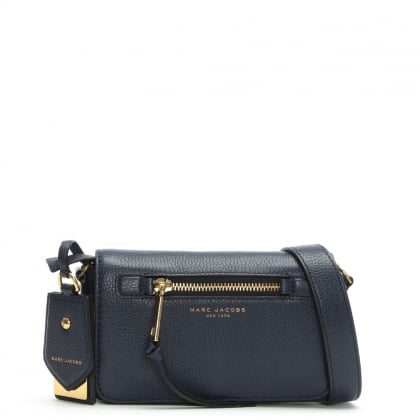 Recruit Midnight Blue Leather Cross-Body Bag