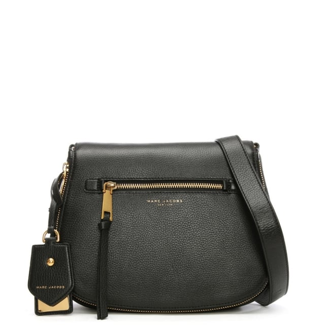 Marc Jacobs Recruit Nomad Black Leather Saddle Bag af62cb0fc