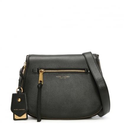 Recruit Nomad Black Leather Saddle Bag