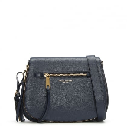 Recruit Nomad Midnight Blue Leather Saddle Bag