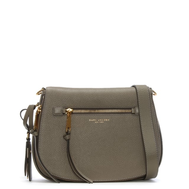 2c919e1411a8 Marc Jacobs Recruit Nomad Mink Leather Saddle Bag