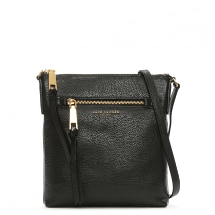 Recruit North South Black Leather Cross-Body Bag