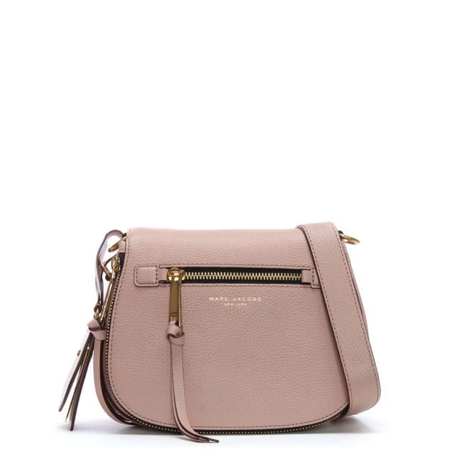 2ec6d700037 Marc Jacobs Recruit Rose Leather Saddle Bag