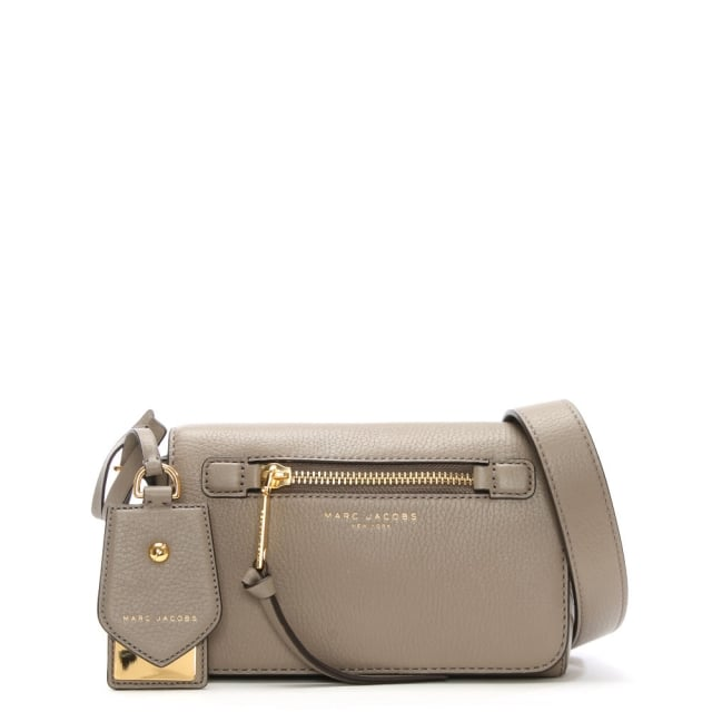 Recruit Taupe Leather Cross-Body Bag