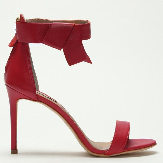 c508b68a8cb Raphaella Booz Red Leather Bow Ankle Strap Sandals