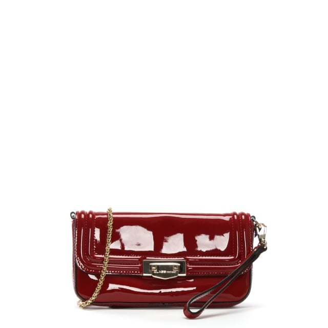 Red Patent Leather Evening Bag