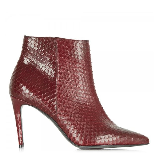 Red Reptile Print 81 83210 Women's Ankle Boot