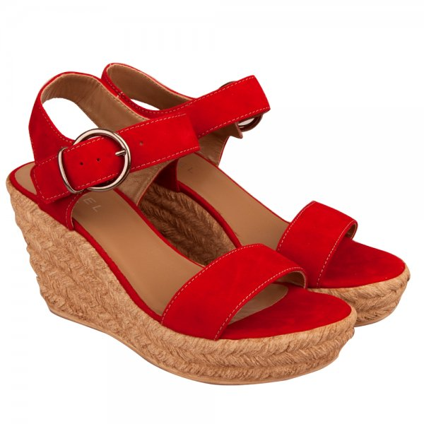 Daniel Red Tipi Women S Raffia Wedge Sandal