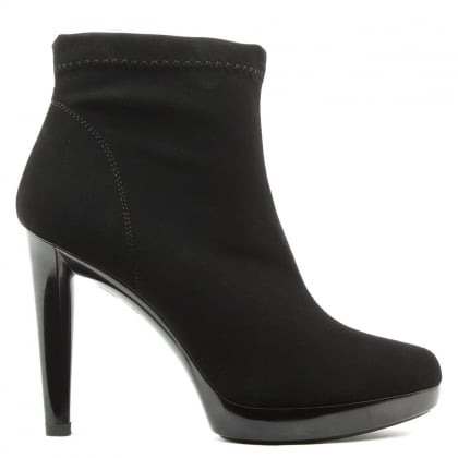 Renee Black Low Platform Ankle Boot
