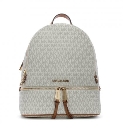 Rhea Vanilla Logo Zip Fastening Backpack