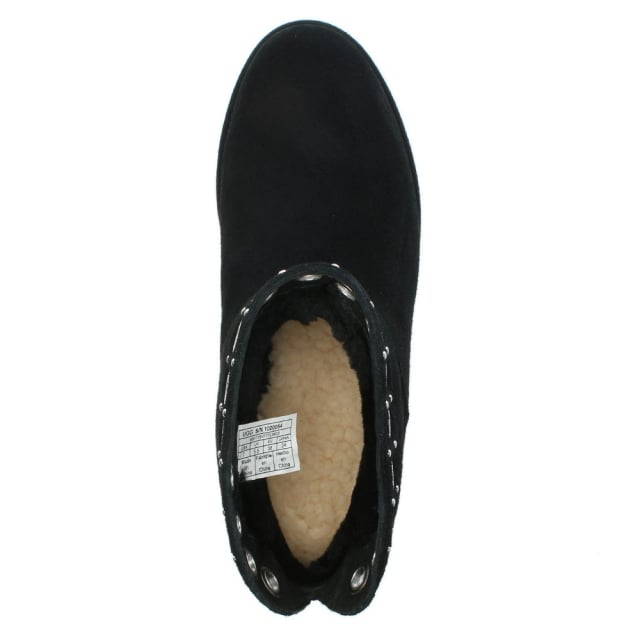 14b32f08f81a UGG Riley Black Suede Grommet Mini Boots