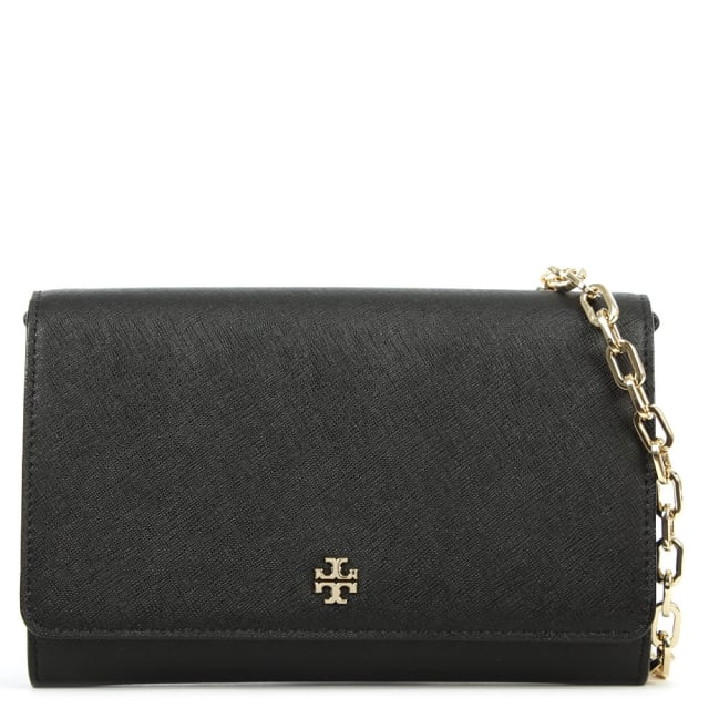 Robinson Black Leather Chain Wallet