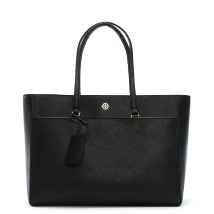 Robinson Black Leather Tote Bag