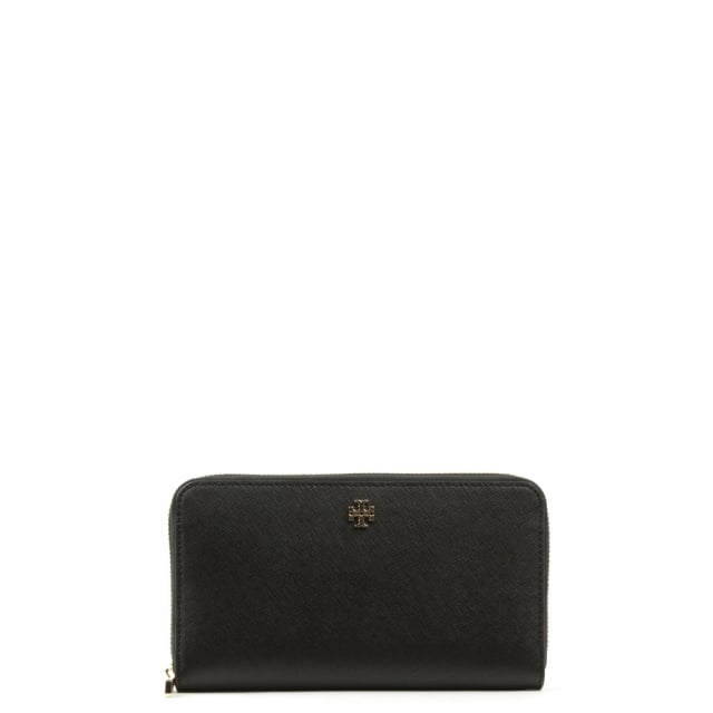 Robinson Black Leather Zip Continental Wallet