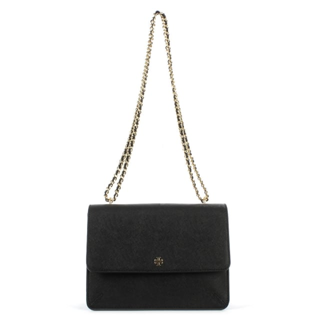 Robinson Convertible Black Leather Shoulder Bag