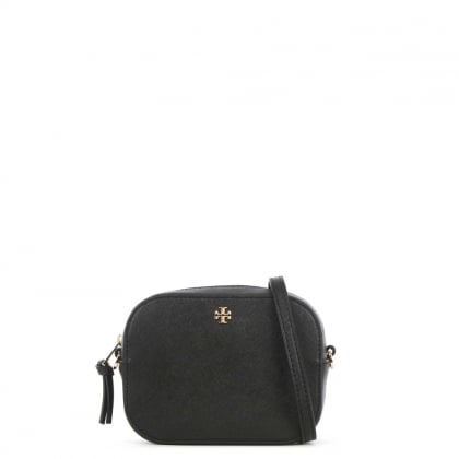 Robinson Round Black Leather Mini Cross-Body Bag
