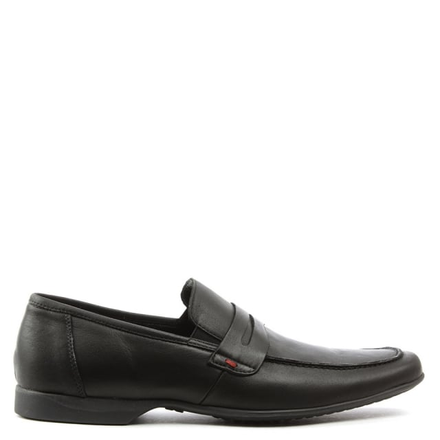 Rocky 100 Black Leather Saddle Loafer