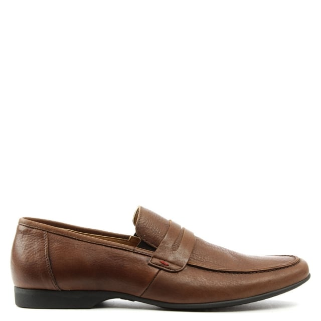 Rocky 100 Brown Leather Saddle Loafer