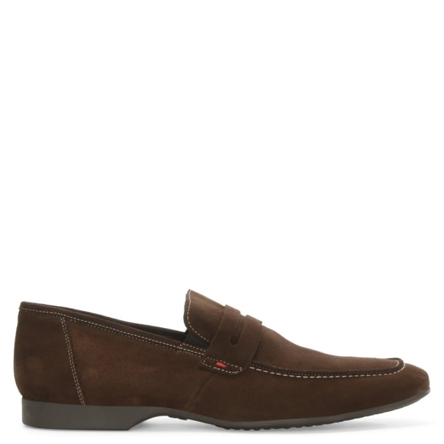 Rocky 100 Brown Suede Saddle Loafer