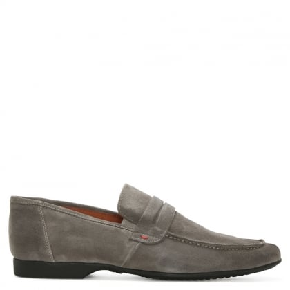 Rocky 100 Grey Suede Saddle Loafer