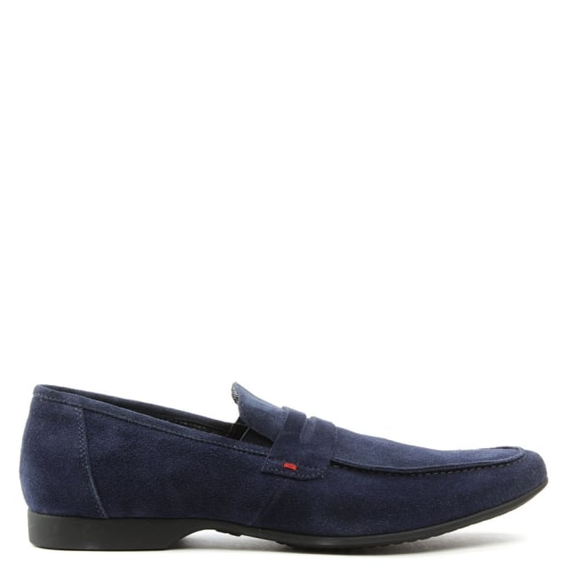 Rocky 100 Navy Fabric Saddle Loafer