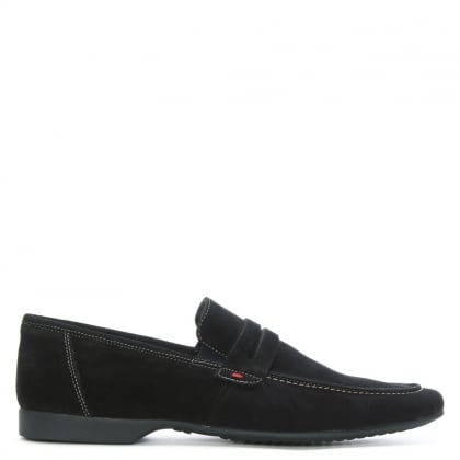 Rocky 100 Navy Suede Saddle Loafer