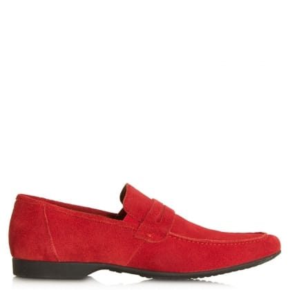 Rocky 100 Red Suede Saddle Loafer