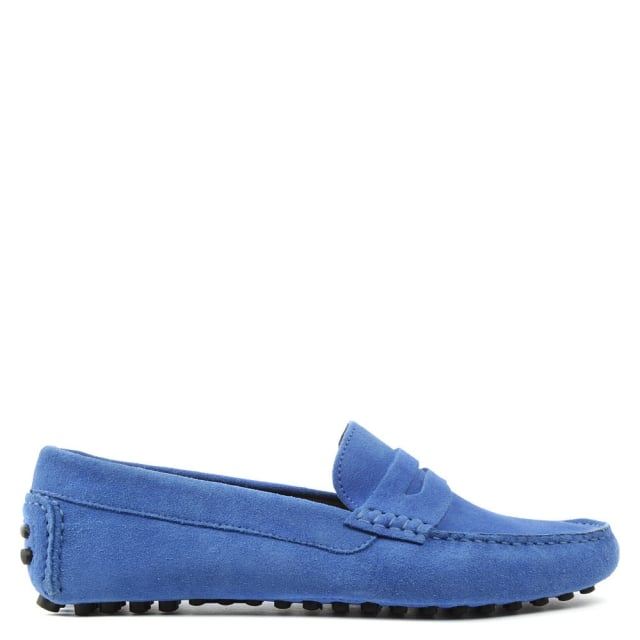 Rocky 103 Blue Suede Loafer