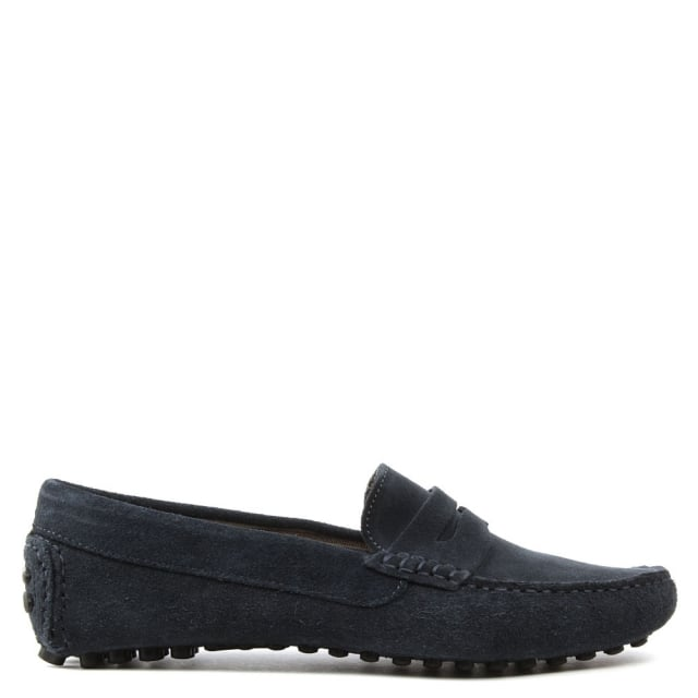 Rocky 103 Navy Suede Loafer