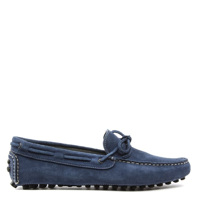 Rocky 104 Blue Suede Driving Moccasin