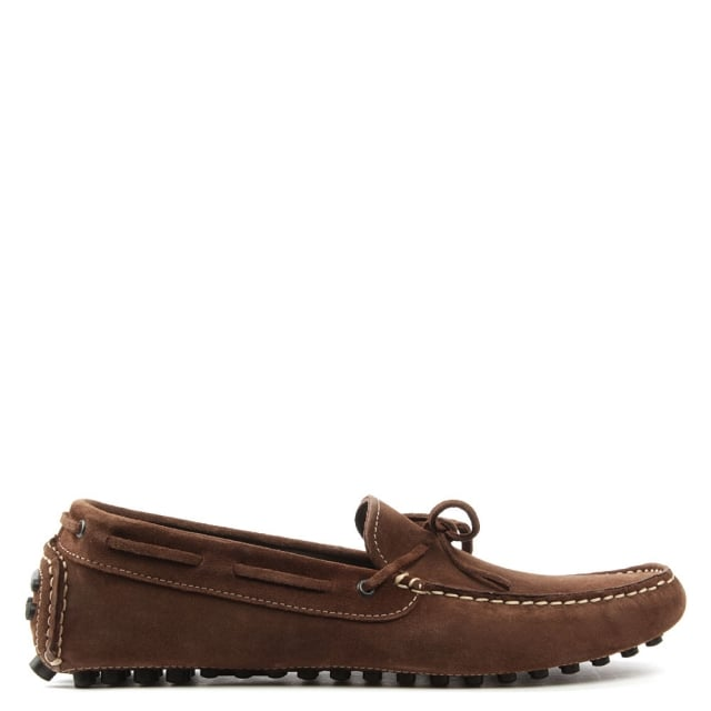 Rocky 104 Brown Suede Driving Moccasin