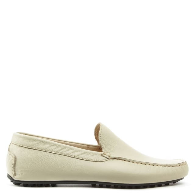 Rocky 109 Smooth Beige Leather Loafer