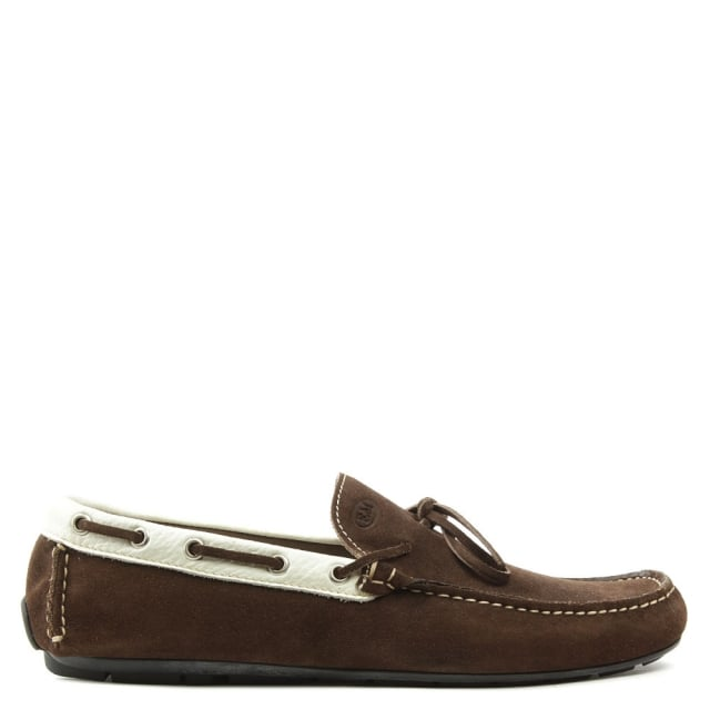 Rocky 110 Brown Suede Contrast Driving Moccasin