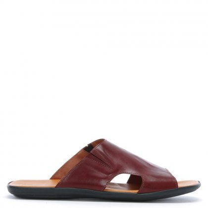 Rocky 300 Burgundy Leather Sliders